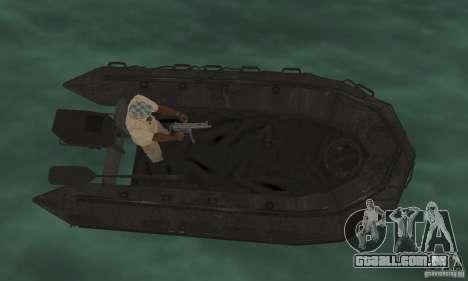 Barco de Cod mw 2 para GTA San Andreas traseira esquerda vista