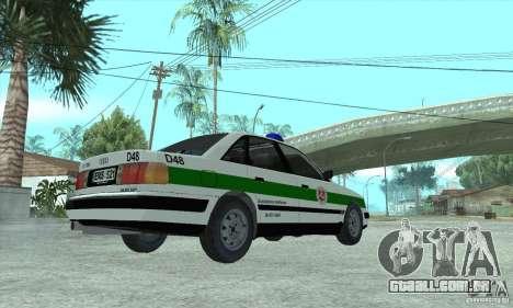 Audi 100 C4 (Cop) para GTA San Andreas esquerda vista