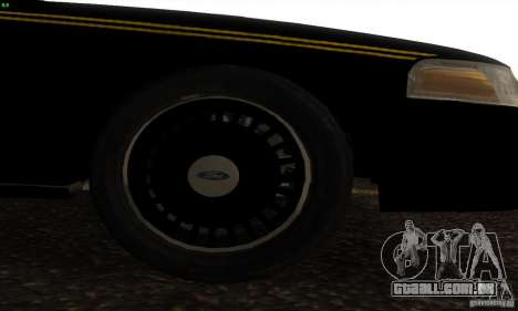 Ford Crown Victoria Alaska Police para GTA San Andreas vista direita