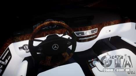 Mercedes-Benz S600 w221 para GTA 4 vista de volta