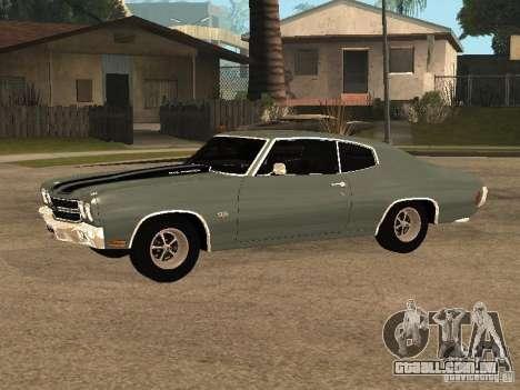 Chevrolet Chevelle SS 454 1970 para GTA San Andreas esquerda vista