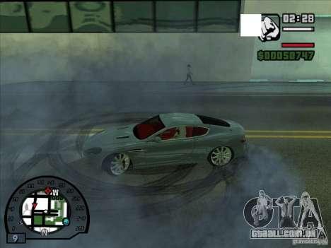 Fumaça saindo debaixo das rodas, como no NFS Pro para GTA San Andreas