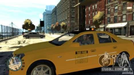 Cadillac CTS-V Taxi para GTA 4 esquerda vista