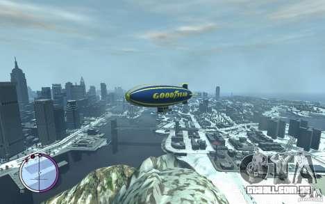 Dirigível para GTA 4 vista superior