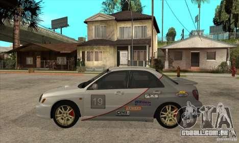 Subaru Impreza WRX para GTA San Andreas traseira esquerda vista