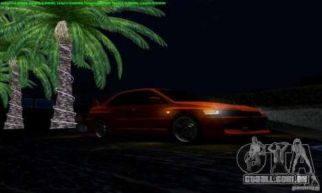 Mitsubishi Lancer Evolution IX 2006 para vista lateral GTA San Andreas