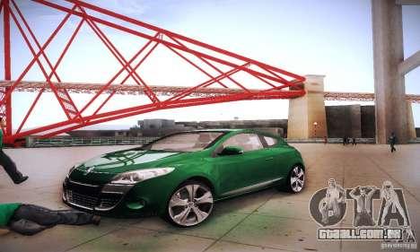 Renault Megane Coupe para vista lateral GTA San Andreas