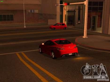 Hyundai Genesis Coupé 3.8 Track v 1.0 para GTA San Andreas vista interior