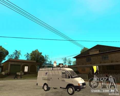 Canal de notícias de gazela 2705 para GTA San Andreas vista direita