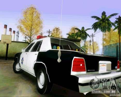 Ford Crown Victoria LTD 1991 SFPD para GTA San Andreas traseira esquerda vista