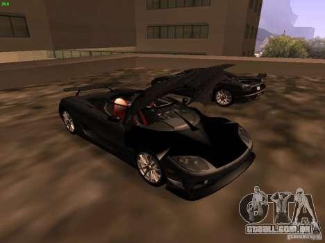 Koenigsegg CCXR Edition para GTA San Andreas vista interior