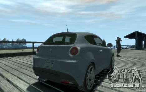 Alfa Romeo Mito para GTA 4 esquerda vista