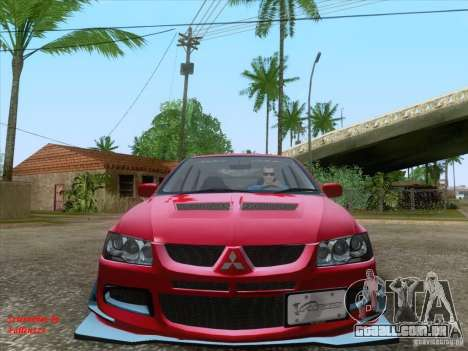 Mitsubishi Lancer Evolution VIII Varis para GTA San Andreas