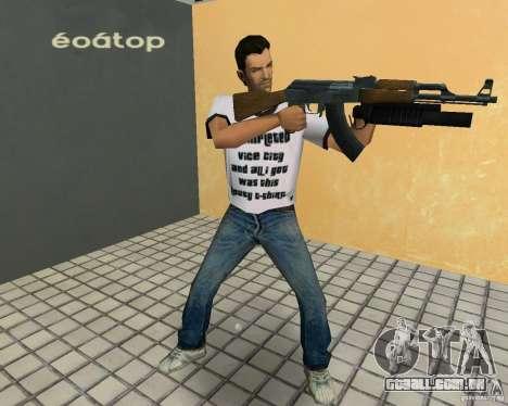 AK-47 com um М203 de lançador de Granada para GTA Vice City por diante tela
