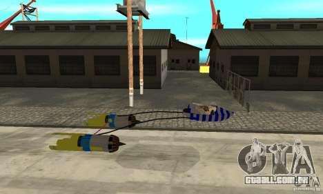 Star Wars Racer para GTA San Andreas esquerda vista