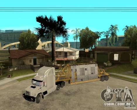 Patch reboque v_1 para GTA San Andreas esquerda vista