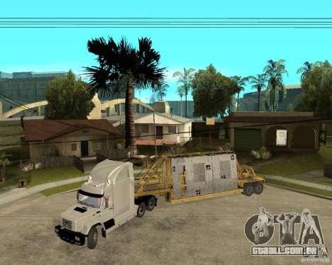Patch reboque v_1 para GTA San Andreas esquerda vista