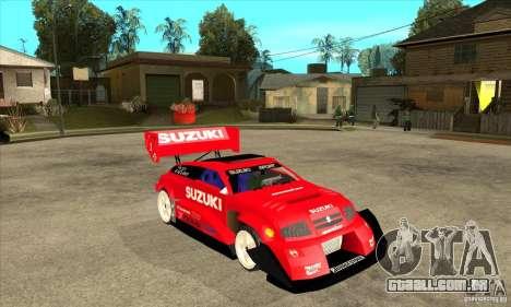 Suzuki Escudo Pikes Peak V2.0 para GTA San Andreas vista traseira