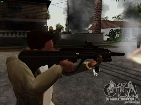 AUG-A3 Special Ops Style para GTA San Andreas segunda tela