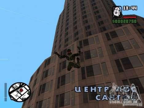 Crysis Nano Suit para GTA San Andreas oitavo tela