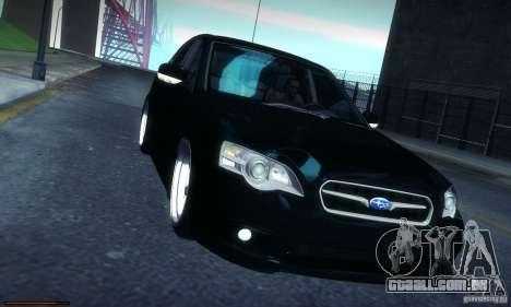 Subaru Legacy BIT edition 2004 para GTA San Andreas vista interior