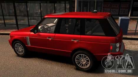 Range Rover TDV8 Vogue para GTA 4 esquerda vista