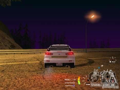 Mitsubishi Lancer Evolution X DPS para GTA San Andreas vista direita