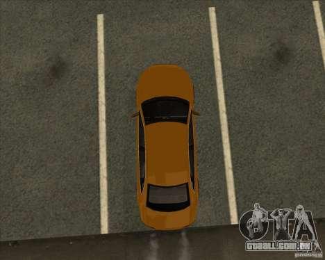 AUDI S4 Sport para GTA San Andreas vista inferior