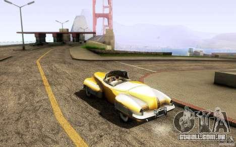Buick Y-Job 1938 para GTA San Andreas vista direita