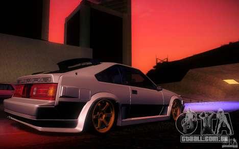 Toyota Supra Drift para GTA San Andreas interior