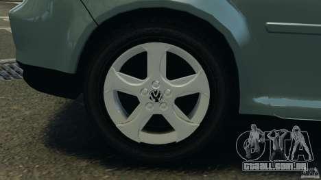 Volkswagen Golf Sportline 2011 para GTA 4 vista inferior