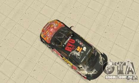 Mitsubishi Lancer EVO Ryo para GTA San Andreas vista traseira
