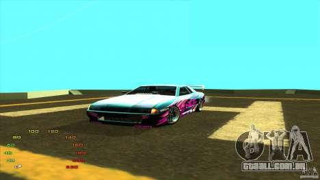 Pack vinil para Elegy para GTA San Andreas por diante tela