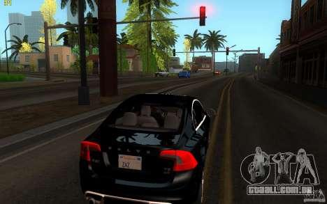 Volvo S60 2011 para GTA San Andreas traseira esquerda vista