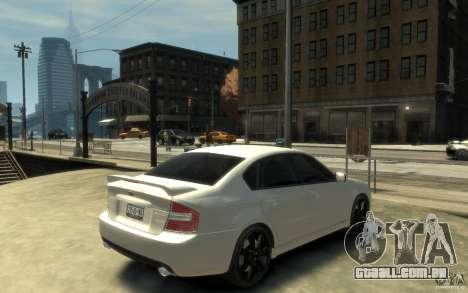 Subaru Legacy B4 specB 3.0 R para GTA 4 vista direita