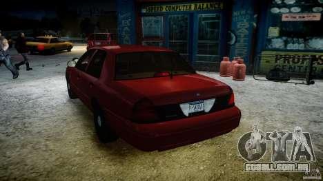 Ford Crown Victoria Detective v4.7 red lights para GTA 4 interior
