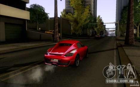 Ruf RK Coupe V1.0 2006 para GTA San Andreas vista traseira