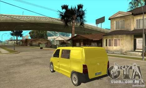Mercedes-Benz Vito 112CDI para GTA San Andreas traseira esquerda vista
