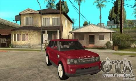 Land Rover Range Rover Sport HSE para GTA San Andreas vista traseira