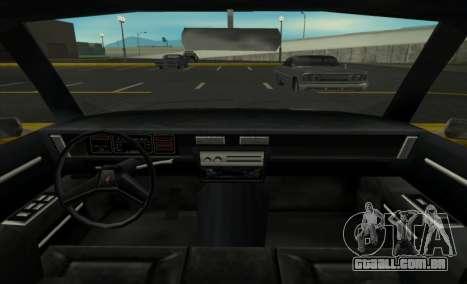 New Regina para GTA San Andreas traseira esquerda vista