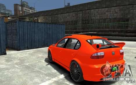 Seat Leon Cupra R para GTA 4 traseira esquerda vista