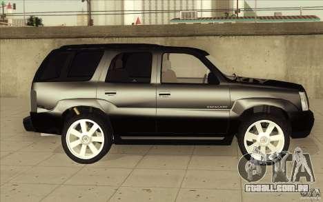 Cadillac Escalade 2004 para GTA San Andreas vista superior