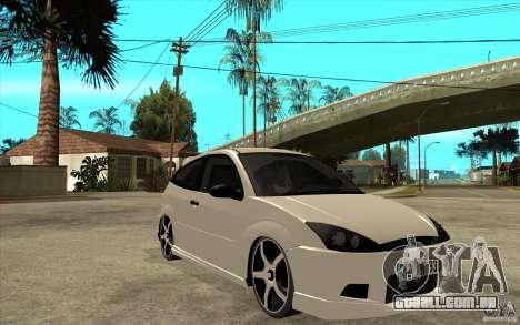 Ford Focus Coupe Tuning para GTA San Andreas vista traseira