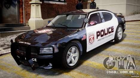 Dodge Charger NYPD Police v1.3 para GTA 4 esquerda vista