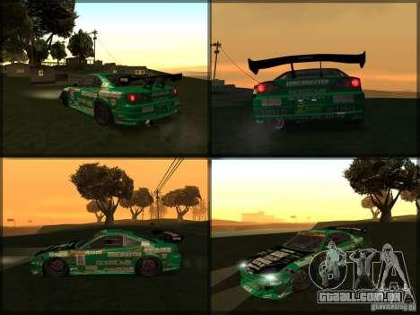 Nissan Silvia S15: Kei Office D1GP para GTA San Andreas traseira esquerda vista