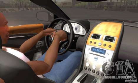 Aston Martin DB9 Female Edition para GTA San Andreas vista superior