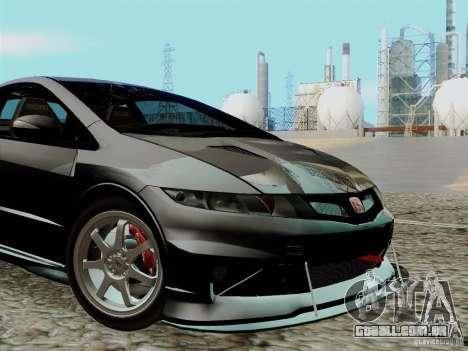 Honda Civic TypeR Mugen 2010 para GTA San Andreas vista interior