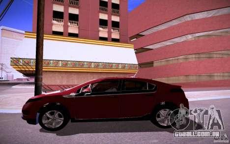 Chevrolet Volt para GTA San Andreas vista interior