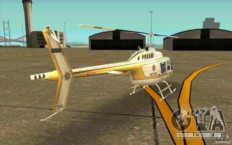 Bell 206 B Police texture4 para GTA San Andreas vista direita