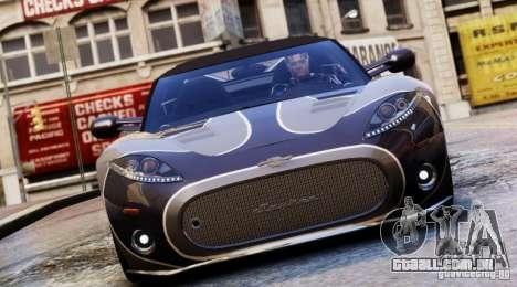 Spyker C8 Aileron Spyder Final para GTA 4 vista lateral